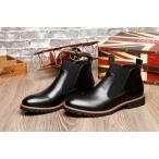 ワークブーツ メンズ サイドゴアブーツ ショートブーツ チャッカブーツ 靴 革靴 ミドルカット