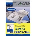 A-one エーワン OHPフィルム PPC(コピー)用 A4判 ノーカット 100枚 品番 27055