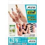 A-one エーワン 転写シール 透明タイプ A4判 ノーカット 7セット 品番 52112