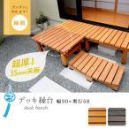 木製 縁台 ウッドデッキ 縁側 58×90