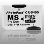 MSProDuo変換アダプタ CR-5400(microSDHC2枚挿し対応)