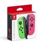 新品 送料無料 通販 Nintendo Switch ニンテンドースイッチ コントローラ ジョイコン Joy-Con (L) ネオングリーン/ (R) ネオンピンク  スプラトゥーン2
