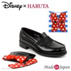 HARUTA Disney ハルタ ローファー レディース 学生 ドット ルーム部分付け替えアタッチメント 日本製 ディズニー