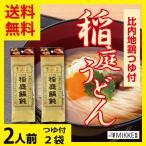 秋田 名産 特産 稲庭うどん 比内地鶏つゆ付 2人前2袋 ポイント消化 お試し 食品 ほりえ 送料無料 引っ越し 挨拶 500円 乾麺 袋めん