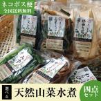 秋田 天然山菜 水煮 選べる4パック 送料無料 簡単調理 鈴木青果問屋 謹製