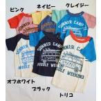 子供服 男女 Tシャツ 半袖 サマーキャンプ Tシャツ オフィシャルチーム 50%OFF メール便OK NS2