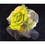花色イエロー・黄色系 プリザードフラワー ケース付き ヘッドアクセサリーやコサージュやブーケ、飾れるギフト