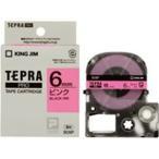 ショッピングシール ラベルシール、プリンタ、文具、オフィス用品 | (業務用まとめ×50) キングジム テプラPROテープ/ラベルライター用テープ 〔幅:6mm〕 SC6P 桃に黒文字