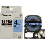 ショッピングシール ラベルシール、プリンタ、文具、オフィス用品 | (業務用まとめ×50) キングジム テプラPROテープ/ラベルライター用テープ 〔幅:4mm〕 SC4B 青に黒文字