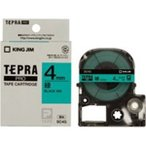 ショッピングシール ラベルシール、プリンタ、文具、オフィス用品 | (業務用まとめ×50) キングジム テプラPROテープ/ラベルライター用テープ 〔幅:4mm〕 SC4G 緑に黒文字