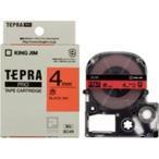 ショッピングシール ラベルシール、プリンタ、文具、オフィス用品 | (業務用まとめ×50) キングジム テプラPROテープ/ラベルライター用テープ 〔幅:4mm〕 SC4R 赤に黒文字