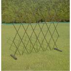 伸縮式 簡易フェンス(仕切り/柵/ゲート) (使用可能幅200cm) スチール 日本製 (防犯 事故防止 園芸 ガーデニング用品) | ガーデニング