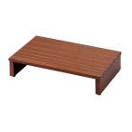 玄関床/玄関台 (幅:約45cm) 木製 アジャスター付き 靴収納可 ダークブラウン (完成品) | 玄関台