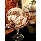 ワイン学者 ウィスキー ワイン デカンタ 帆船 エッチング グローバル 地球儀  Wine Savant Whisky & Wine Sail Ship Etched Globe Spirits Decanter