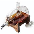 バーボンウイスキー デカンタ リキュールディスペンサー グラスデカンタ Bourbon Decanter  Liquor Dispenser - Glass Decanter