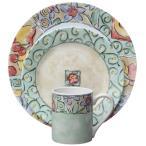 コレール インプレッションズ ディナーウェアー ウォーターカラーズ 食器16点セット Corelle Impressions 16-Piece Dinnerware Set, Watercolors, 1092909