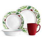 コレール インプレッションズ ディナーウェアー 鳥と枝 食器16点セット Corelle Impressions 16-Piece Dinnerware Set, Birds and Boughs