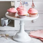 ケーキスタンド デザートスタンド モッサー ミルクグラス 直径30cm Mosser Milkglass Cake Stand, 12inch デザートプレート フルーツプレート ディスプレイ