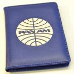 パンナム パスポートカバー ブルー ホワイトロゴ Pan Am Passport Cover Blue - White Logo 37SP08PAB/VW