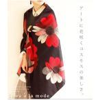 小物 花柄 黒系 レディース レディス サワアラモード 洋服 30代 40代 50代 60代