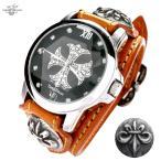 腕時計 メンズ 紳士 ラウンド 革ベルト プレゼント 国産製