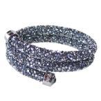 スワロフスキー SWAROVSKI バングル ブレスレット Crystaldust Double Sサイズ クリスタルダスト ダブル グレー クリスタル 5255898