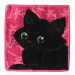 雅虎商城 - メール便可250円 日本未発売 フェイラー ハンカチ ハンドタオル タオルハンカチ 25cm ブラックキャット 黒猫 クロネコ
