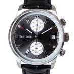 ショッピングポールスミス ストラップ ポールスミス Paul Smith 時計 腕時計 クロノグラフ メンズ ブロック BLOCK CHRONO グレー×ブラック×シルバー レザーベルト P10031