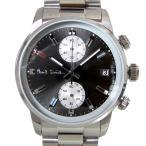ショッピングポールスミス ストラップ ポールスミス Paul Smith 時計 腕時計 クロノグラフ メンズ ブロック BLOCK CHRONO グレー×ブラック×シルバー メタルベルト P10033