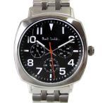 ショッピングポールスミス ストラップ ポールスミス Paul Smith 時計 腕時計 クロノグラフ メンズ アトミック ATOMIC ブラック×シルバー メタルベルト P10046