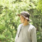 日よけ帽子 チロリアンテープ付き 男女兼用 グリーン カモ M (56-59cm) L(58-61cm) 調節可 UVカット 紫外線対策 帽子 アウトドア フェス キャンプ