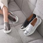 スリッポン スニーカー メタルトゥ スニーカー レディース ファッション レディース 靴 婦人靴 30代 40代