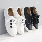 スニーカー レディース レースアップ 本革 レザー 2019 秋冬 ファッション 靴 婦人靴 黒 白