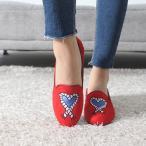 ショッピングフラット フラットシューズ レディース スエード調 刺繍 2017 秋 ファッション 靴 婦人靴