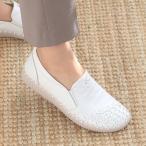 スリッポン レディース スニーカー レザー 本革 春 ファッション 靴 婦人靴 黒 白