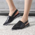 ショッピングフラット フラットシューズ レディース ポインテッドトゥ スリングバック 2017 秋 ファッション 靴 婦人靴