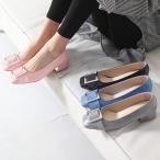 ショッピングローヒール パンプス レディース スクエアトゥ ローヒール 太ヒール チャンキー ファッション 靴 婦人靴