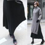 秋新作 スカート ロングスカート プリーツスカート 50代 40代 ファッション 女性 レディース