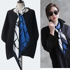 スカーフ レディース 大人 40代 50代 60代 ファッション 女性 上品 グレー柄 春 ミセス
