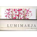 ファブリックパネル marimekko LUMIMARJAPINK 40×40cm 3枚セット ピンク マリメッコ 人気インテリア 北欧 ルミマルヤ LUMIMARJA 木 雪苺 スノーベリー