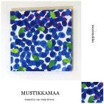 単品 ファブリックパネル アリス marimekko Mustikkamaa 30×30cm 単品販売 おすすめ ムスティッカマア マリメッコ ビビッド パープル ブルー 青 爽やか 人気