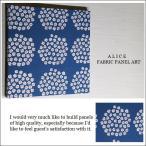 ファブリックパネル アリス marimekko PUKETTI 40×40cm  ブルー マリメッコ プケッティ 花束 マリメッコインテリア 北欧 ファブリックボード