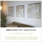 壁インテリア雑貨 ファブリックパネル marimekko TUNTURIPOLLO 40×40cm 3枚セット ベージュ系 マリメッコ アート リビング 北欧 アリス