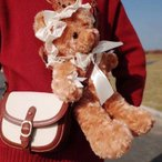リボン3種類 モフモフ かわいい レース クマ 肩掛けバッグ