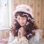 防寒 暖かい 厚手 リボン ロリィタ Lolita コスチューム