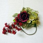 造花・アートフラワー 秋色の壁掛け