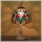 (アンティーク照明) ステンドグラス テーブルランプ フラワー (アリスの時間)