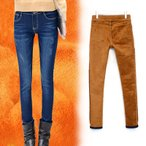 お取寄せ  暖か 裏起毛 ボア パンツ デニム スキニー カジュアル 小さいサイズ  MKAT70237