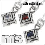 Ms collection ネックレス メンズ ブランド シルバー トライバル スクエア チャーム シルバー925 ペンダント チェーン付 エムズコレクション