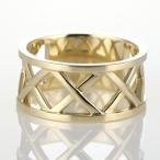 ショッピングレディス リング 指輪 クロス 透かし彫り 平打ち ゴールド イエローゴールド